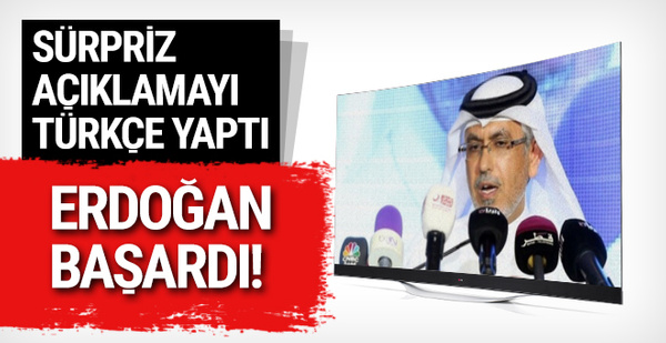 Sürpriz açıklamayı Türkçe yaptı: 'Erdoğan başardı'