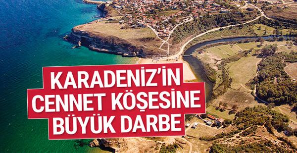 Karadeniz'in cennet köşesine büyük darbe