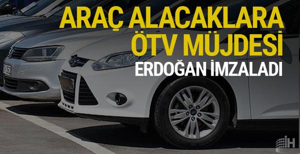 Araç alacaklara güzel haber Erdoğan imzaladı ÖTV artık...