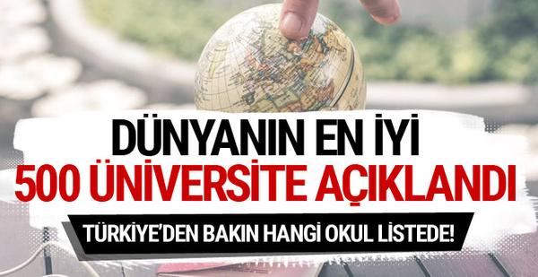 Dünyanın en iyi 500 üniversitesi açıklandı! Türkiye'den giren okul...
