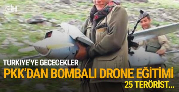 PKK'dan 'bombalı drone' eğitimi! 25 terörist eğitilmiş...