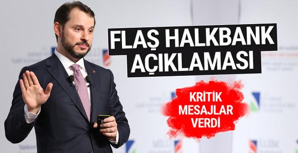 Bakan Berat Albayrak'tan flaş Halkbank açıklaması!