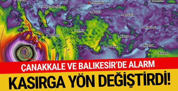 Kasırga yön değiştirdi! İzmirliler aman dikkat...