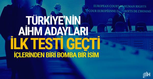 Türkiye'nin AİHM adayları elemeyi geçti 3 isimden biri bomba
