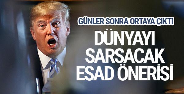 Trump'tan olay sözler! Beşar Esad'ı öldürelim