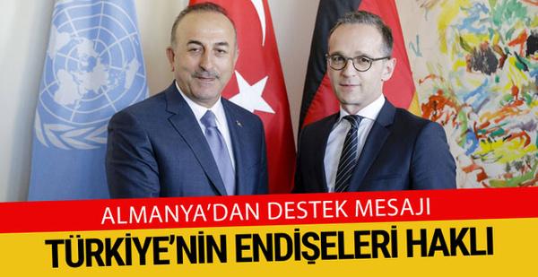 Almanya Dışişleri Bakanı: Türkiye'yi destekliyoruz