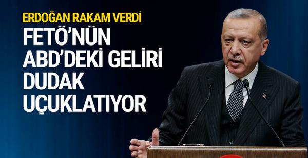 Erdoğan: ABD'nin örgüte ödediği para 800-850 milyon dolar