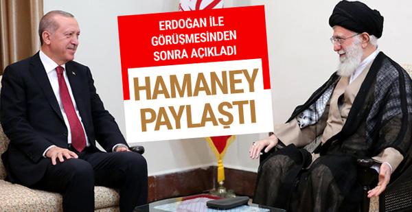 Erdoğan'ı etiketleyen Hamaney'den dikkat çeken mesaj