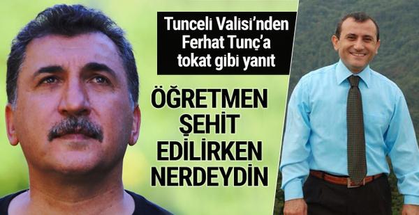 Tunceli Valisi ile Ferhat Tunç kapıştı sosyal medya yıkıldı!