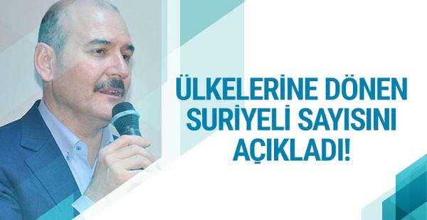 Süleyman Soylu açıkladı 2 yılda kaç Suriyeli döndü?