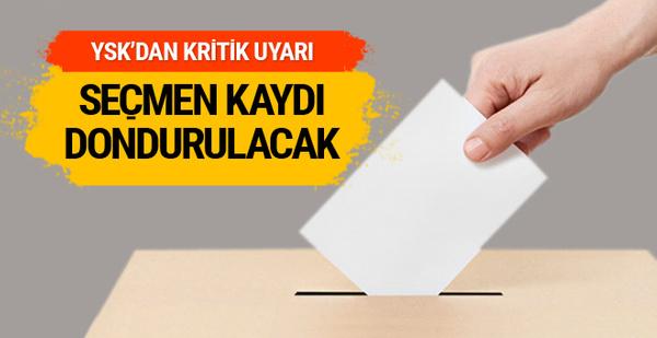 YSK'dan son dakika açıklama: O seçmenlerin kaydı dondurulacak