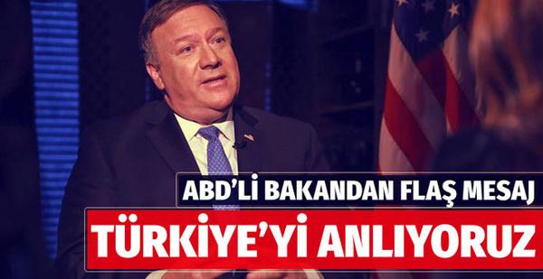 ABD'den dikkat çeken Türkiye mesajı
