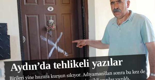Aydın'da Alevi evlerine tehlikeli yazılar