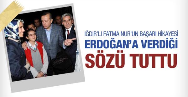 Erdoğan'a verdiği sözü tuttu!