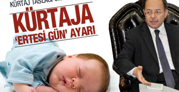 Kürtaj yasasının ayrıntıları belli oldu