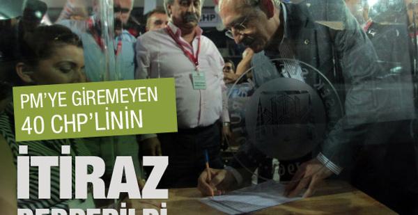 40 CHP'linin itirazı reddedildi!