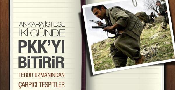 Ankara istese 2 günde PKK'yı bitirir