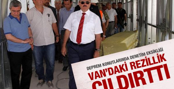 Van'daki konutlar valiyi kızdırdı!