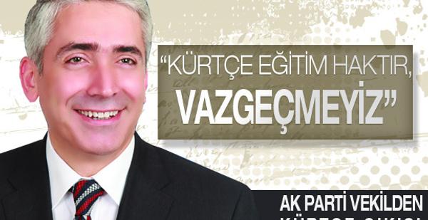 AK Partili Ensarioğlu'ndan Kürtçe çıkış