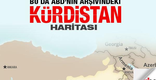 ABD'nin arşivindeki 'Kürdistan' haritası