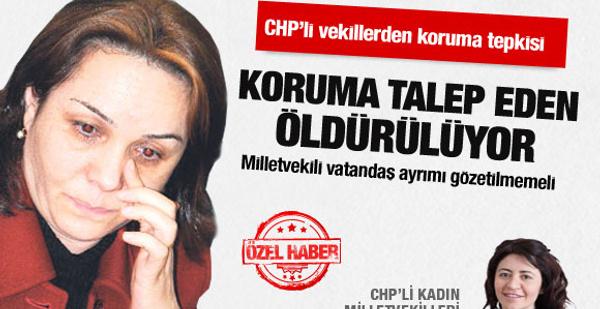 CHP'li kadın vekillerden koruma tepkisi!