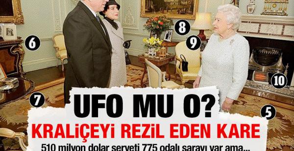 İngiltere kraliçesi UFO ile dile düştü