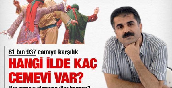Türkiye'de hangi ilde kaç cemevi var?