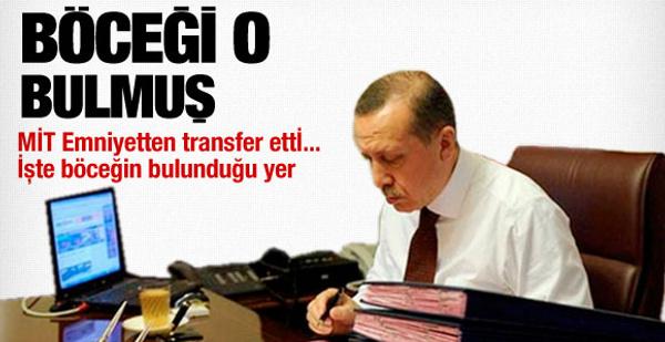 Erdoğan'ın böceğini bulan isim oymuş!