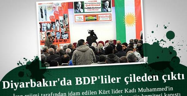 Diyarbakır'da BDP'liler çileden çıktı