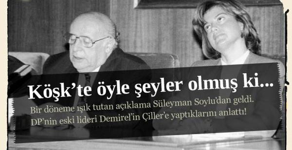 Demirel'den Çiller'e ağır hakaret!