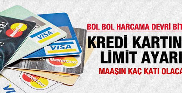 Kredi kartı limitlerinde yeni dönem