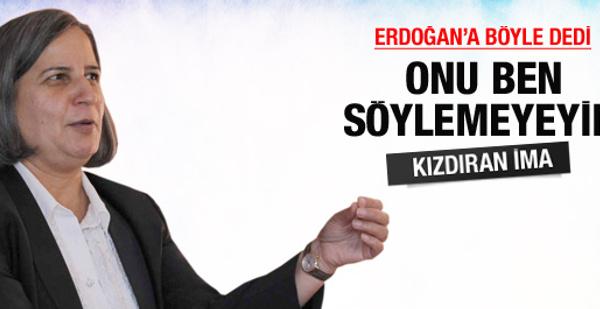 Kışanak'tan Erdoğan'ı kızdıracak ima