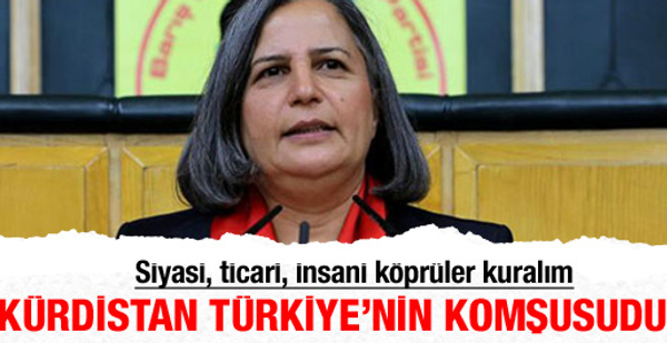 Rojova Kürdistanı Türkiye'nin komşusudur