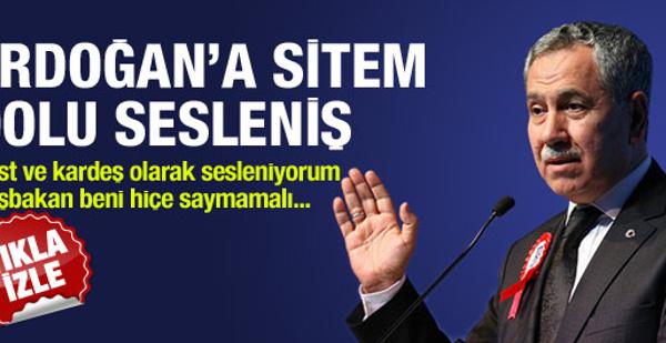 Bülent Arınç Erdoğan'a sitem etti