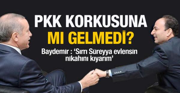 Osman Baydemir PKK korkusuna mı gelmedi?