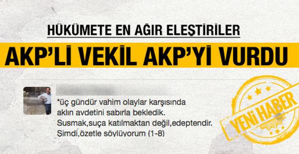Ak Parti'li vekilden hükümete şok çağrı