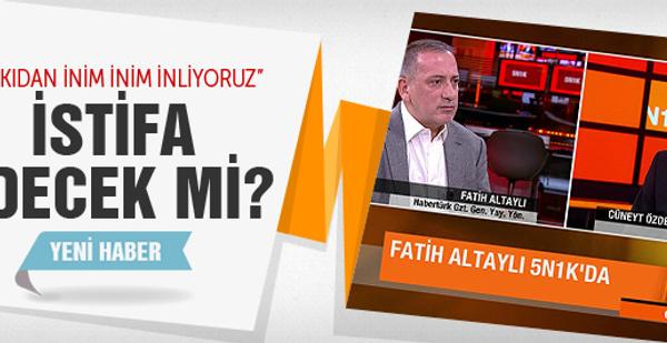 Fatih Altaylı istifa edecek mi?