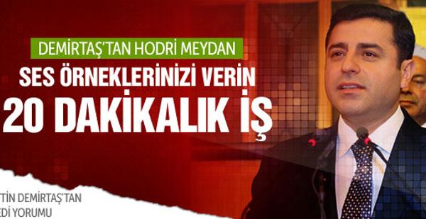 Selahattin Demirtaş'tan ses kasedi yorumu
