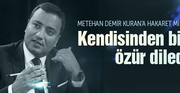 Metehan Demir'den bomba ses kaydı için açıklama!