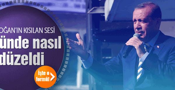 Erdoğan'ın kısık sesi iki günde nasıl düzeldi?