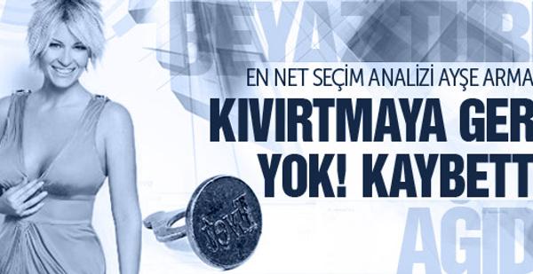 Ayşe Arman hiç 'kıvırtmadı': Kaybettik!