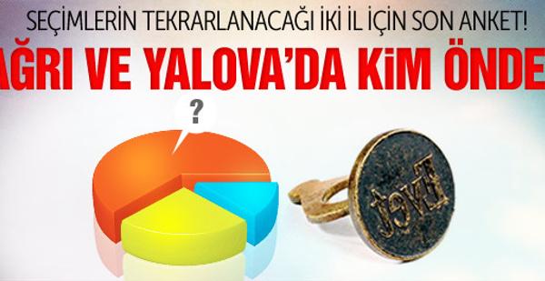Ağrı ve Yalova'da seçimleri kim kazanır? İşte son anket...