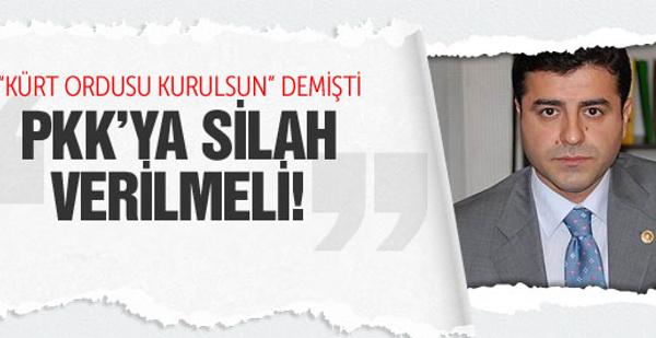 Demirtaş: Devlet, IŞİD'le savaşan PKK'ya silah versin
