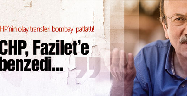 Mehmet Bekaroğlu: CHP, Fazilet'e benziyor