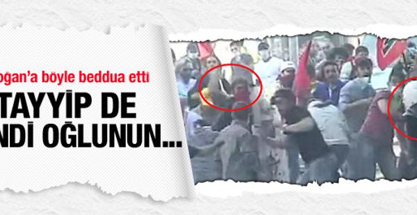 Erdoğan'a böyle beddua etti