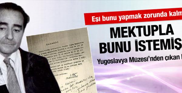 Menderes'in eşinin şok mektubu