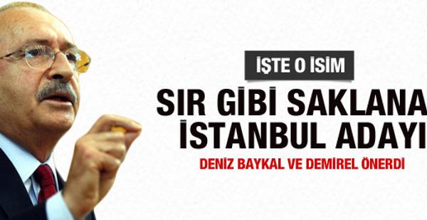 CHP'nin sır gibi sakladığı İstanbul adayı