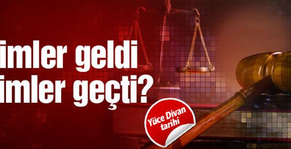 Yüce Divan'da kaç kişi yargılandı?