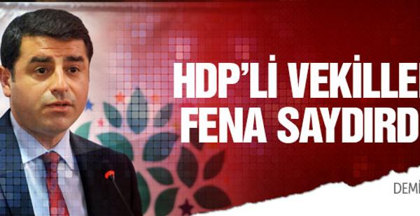 HDP'li vekillerden Demirtaş'a sert tepki!