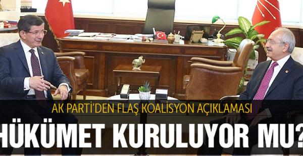 AK Parti'den flaş koalisyon açıklaması